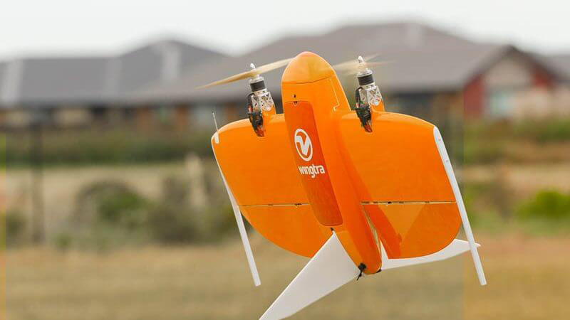 Ansicht Drohne Wingtra