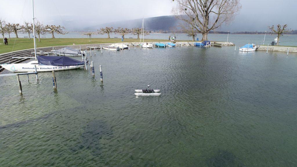 Bathymetrie Lüscherz Hafen