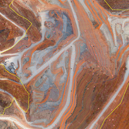 DGM Höhenlinien mit Luftbild