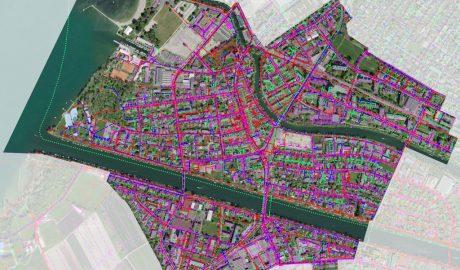 WebGIS-Ausschnitt Nidau mit Luftbild und Leitungskataster