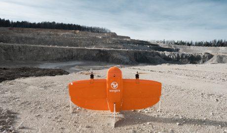 Drohne Wingtra, vor dem Start