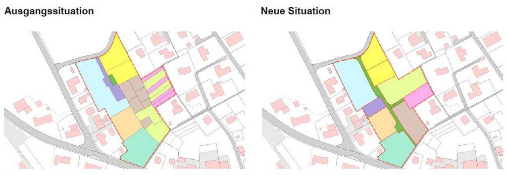 Landmanagement Vergleich vorher/nachher