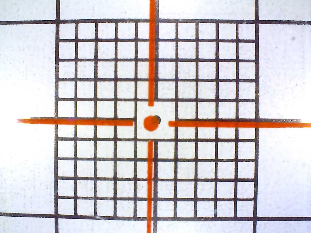 Rissvermessung Fadenkreuz