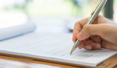Formular unterschreiben